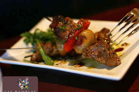 Las Ramblas - Six Dish Tapas Meal for Two People - Save 64%