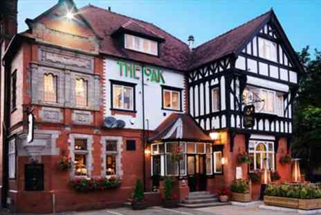 The Royal Oak -  Overnight accommodation for two people including Meals & Prosecco - Save 51%