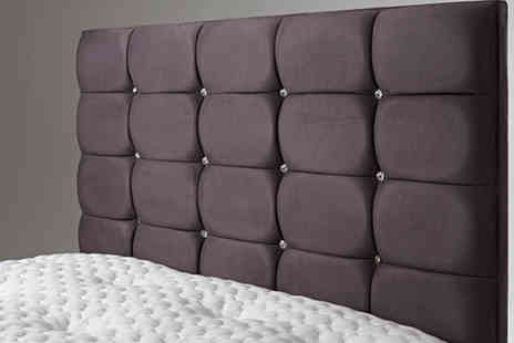 Bed Monkey - Faux Suede Quilted Headboard - Save 71%