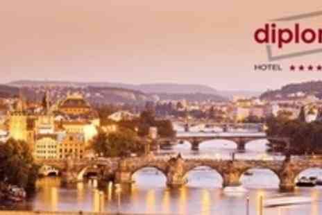 Diplomat Hotel Prague - Four Night Stay For Two With One Three Course Dinner, and Breakfast - Save 58%