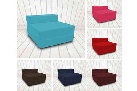 Shopisfy - Single or Double Fold Out Z Bed in a Choice of Colours - Save 48%