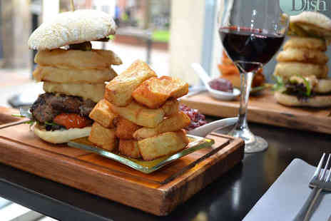 Dish Dining Room & Bar - Gourmet Burger, Hand Cooked Chips and Onion Rings Each for Two  - Save 58%