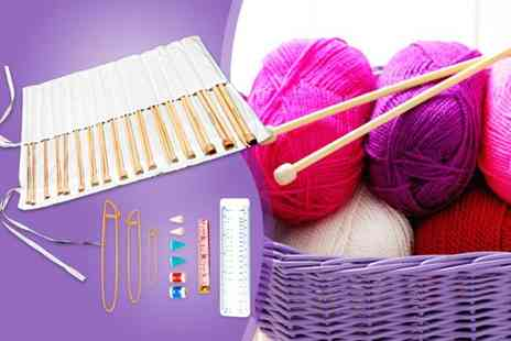 Macallen Jersey  -  44 piece knitting kit with bamboo needles and accessories - Save 56%