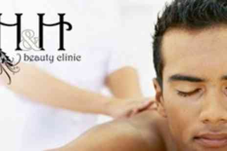 H & H Beauty - Mens Pamper Package With Choice of 45 Minute Massage and Choice of Facial Plus Nail Treatment - Save 69%