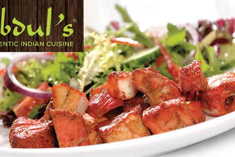 Abduls - Curry and Choice of Sides for two - Save 50%