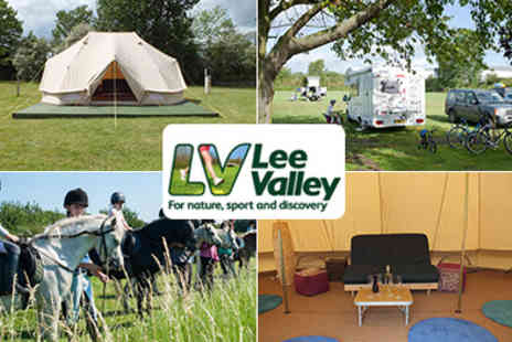 Lee Valley Park Farms -  Glamping and Camping in the Lee Valley  Deluxe Bell Tent, Cooker and Beds Set up for you Valid until 31st October - Save 50%