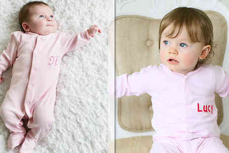 The Early Years Boutique - Personalised Sleepsuit and Mittens - Save 52%