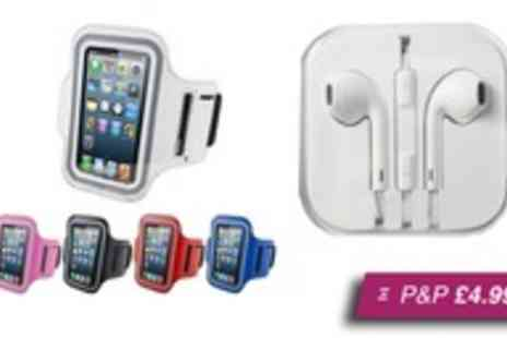 Marcus Accessories -  iPhone 5 running armband and earphones - Save 87%