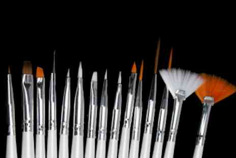 E ville -  20 Piece nail art brush kit  - Save 48%