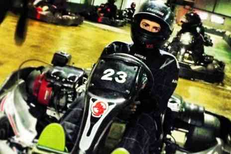 Northampton Indoor Karting -  Kids Track Day With Food and Drink - Save 71%