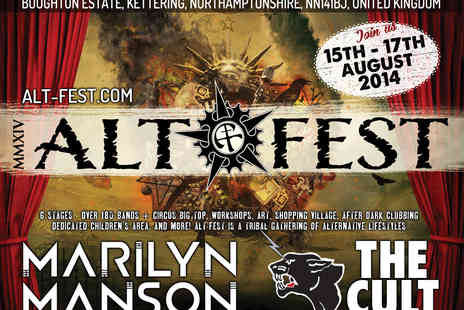 Alt Fest - Tickets to Alt Fest Featuring Marilyn Manson, Gary Numan and The Cult - Save 14%