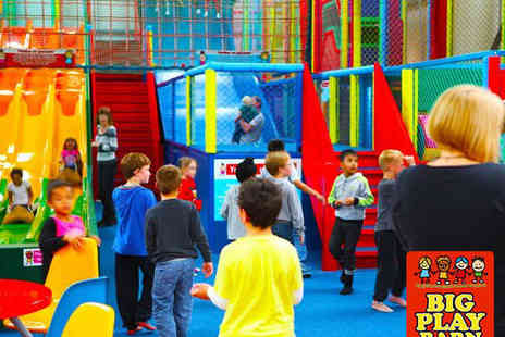 The Big Play Barn - Entrance to Soft Play for Two Adults and Two Children - Save 62%