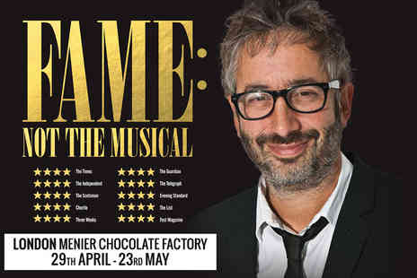 Chocolate Factory Productions - Tickets to David Baddiel  Fame Not the Musical - Save 24%