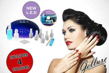 Body Reform - Gellure LED Gel Nail Polish Kit with Four Polishes - Save 72%