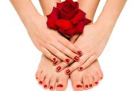 A Touch of Beauty -  Shellac manicure & pedicure - Save 69%