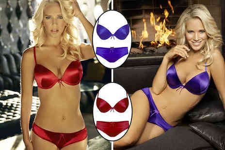 Ultimo - The One Nadine Brazilian Brief in Red or Purple  or The One Nadine Bra in Red or Purple - Save 40%