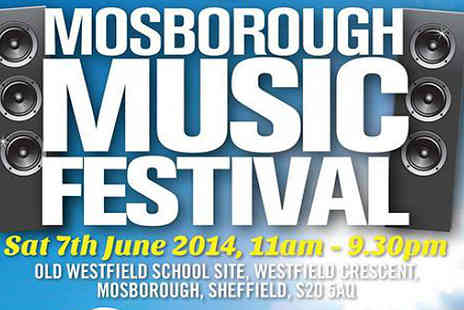 Lane Events - Half price tickets to Mosborough Music Festival - Save 33%
