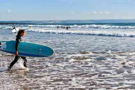 Surf South West - Two -Hour Summer Surf Lesson in Croyde Bay - Save 50%