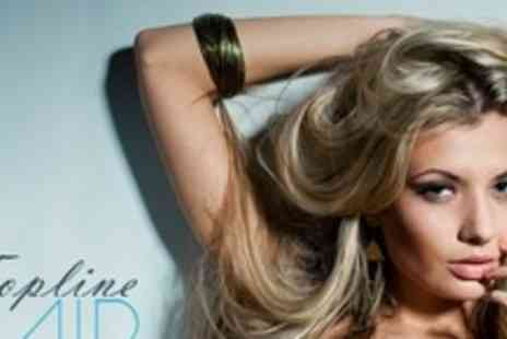 Top Line Hair Design - Half Head of Highlights or Full Head of Colour With Cut and Blow Dry - Save 61%