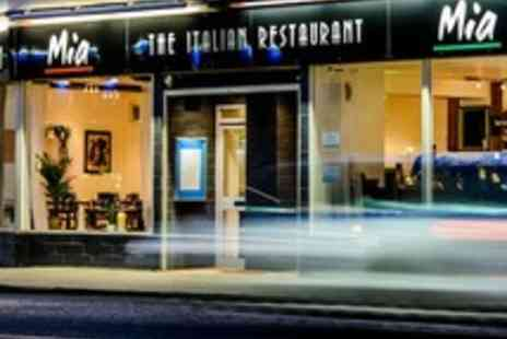 Mia Italian Restaurant - Three course Italian meal for 2 with coffee or tea - Save 60%
