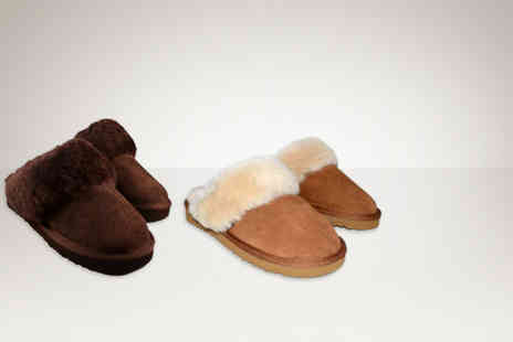 Evaniy Accessories - Pair of sheepskin womens slippers - Save 72%