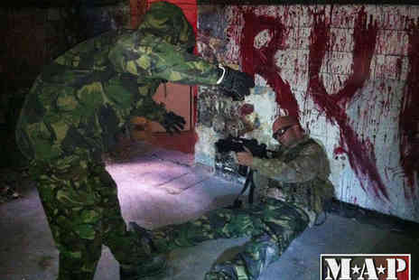 Military Adventure Park - Zombie Apocalypse M4 and AK47 Airsoft Experience with Unlimited Ammo for One - Save 54%