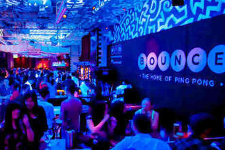 DoingSomething.co.uk - Ticket to The Bigger, Bouncier Ping Pong Date at Bounce - Save 23%