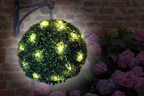Cost Mad - 20 LED solar powered topiary ball - Save 54%
