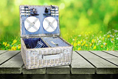 Trackpack - 16 piece wicker picnic basket and cooler set - Save 56%
