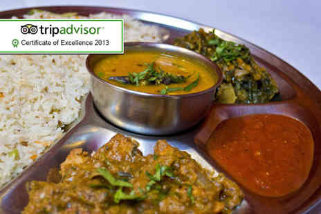 The Khukuri -  Indian Thali dining experience for 2 people - Save 65%
