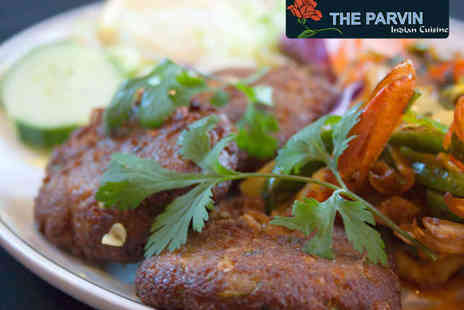 The Parvin Indian Restaurant - Starter and Main Each for Two - Save 65%