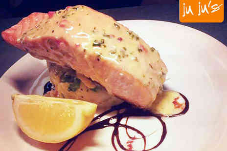 Ju Jus Cafe - Main Course, Dessert, and Glass of Wine Each for Two - Save 50%