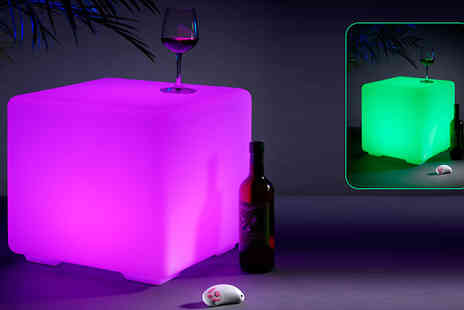 Safield Distributions - Light Up Colour Changing Cube Furniture Stool - Save 53%