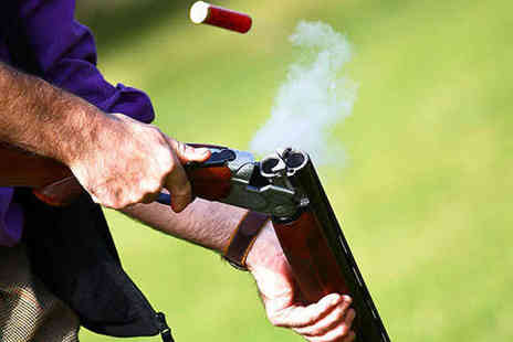 The Shooting Party - Clay Pigeon Shooting Experience with 30 Clays and Tuition for One - Save 66%