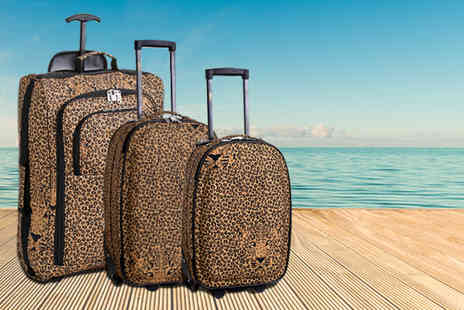 Luggage Travel Bags - Leopard face print cabin sized trolley bag - Save 54%