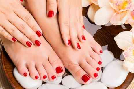 Rainbow Beauty - Manicure with nail and cuticle work and exfoliation - Save 50%