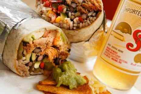 Burrito Cafe - Burritos, Beer, Churros and Coffee For Two - Save 54%
