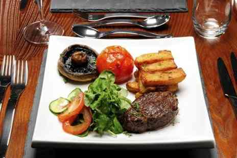 The Blue Steak - Two Course Meal With Wine For Two  - Save 67%