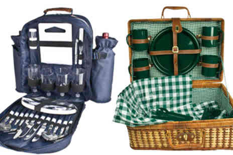Play Away - Picnic Hampers perfect picnic in easy to carry rattan basket - Save 49%