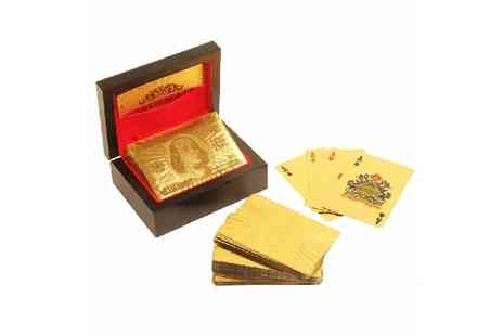 Deal Nation Direct - 24K Gold Foil Plated Playing Cards inc delivery - Save 80%