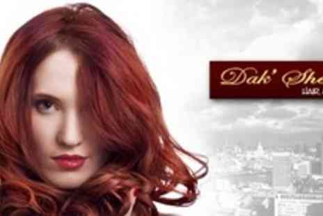 Dak Sheens Hair & Beauty - Half Head Highlights or Full Head of Colour With Wash, Cut and Blow Dry - Save 55%