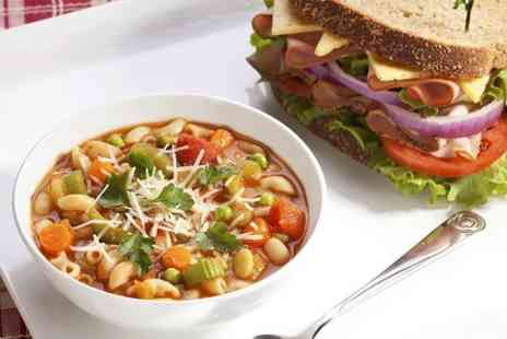 Tea - Homemade soup plus sandwich with choice of filling  - Save 50%