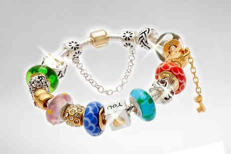 Pearls Eve - Murano Love Charm Bracelet - Save 88%
