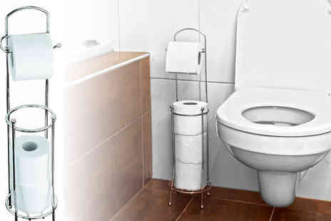 Onevolution - Chrome Toilet Roll Stand - Save 55%