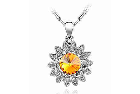 FinishingTouch.co - Sunflower Crystal Pendant - Save 48%