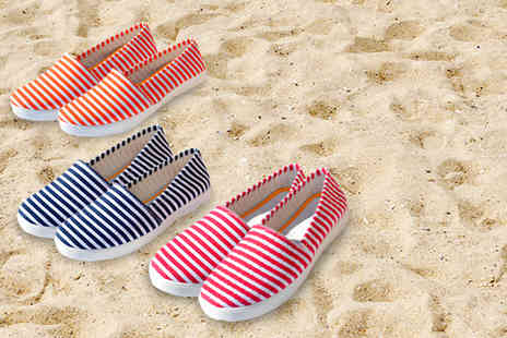 Evaniy - Pair of striped espadrilles - Save 72%