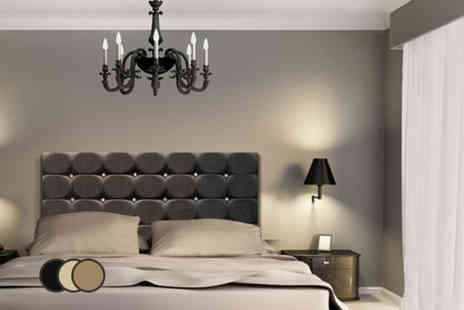 Bed Monkey - Chenille diamante headboard in a choice of 3 colours - Save 79%