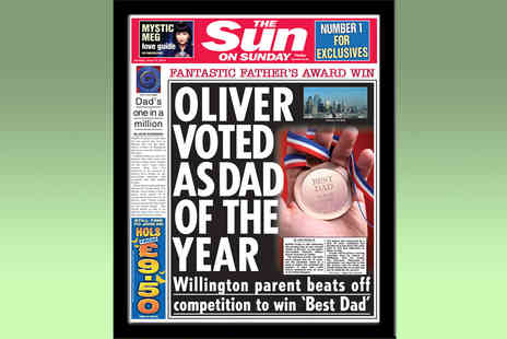 In the Paper - Personalised and Framed Father's Day Front Page of The Sun - Save 47%