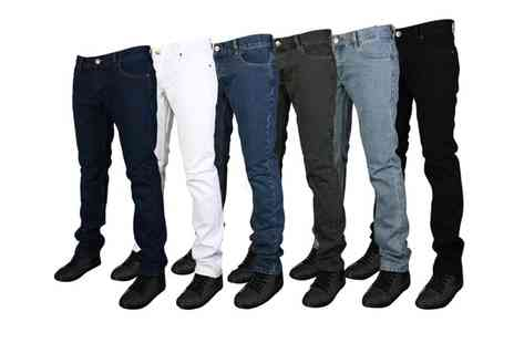 My1stWish - Mens Forge by Kam Designer Skinny Fit Jeans - Save 67%