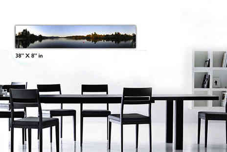 "PRINT BLOCK - 38"" x 8"" panoramic iPhone canvas - Save 79%"